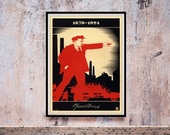 Reprint of an Lenin Propaganda Poster