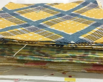 52 Feedsack and Vintage 4 inch Quilt Squares