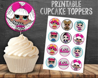 LOL Surprise Doll Cupcake Toppers - Printable LOL Surprise Doll Cupcake Toppers - 2 inch Cupcake Topper Printables