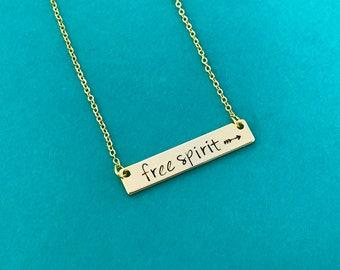 GOLD bar necklace, personalized necklace , hand stamped necklace, gold necklace gift, wedding, christmas, mother's day, graduation