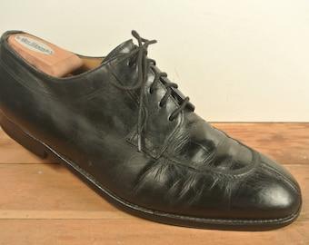 Magnanni Black Split Toe Lace Up Blucher Size: 10D