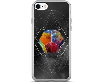 iPhone 7/7 Plus Case - Space Geometry Rainbow Hex iPhone 7 Case