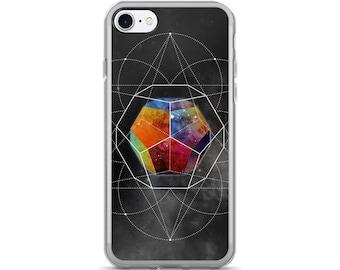 iPhone 7/7 Plus Case - Space Geometry Rainbow Hex iPhone 7 Case