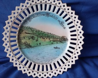 Vintage Ribbon Plate A Present Westcliff on Sea Very rare