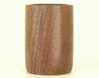 Handcrafted Walnut Pencil Cup Pen Holder