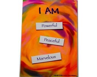 Goddess Affirmation, Affirmation Chant Magnet, Affirmation, Magnetic word kit for fridge, Encouragement, Empowerment, Goddess. Yoga party