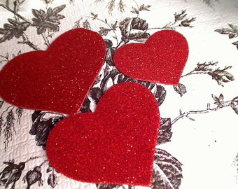 Red Hot Heart Magnets Free Shipping 3 Hearts Per Order