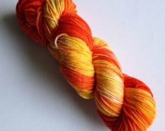 Hand Dyed Yarn - 8ply DK Merino - Tequila Sunrise
