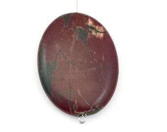 1 Picasso jasper stone bead / 30mm x 40mm  #PP014-12