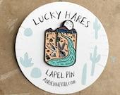 Lucky Hares - lapel pin
