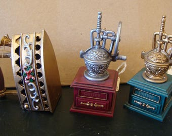Coffee Grinders,Iron, Victorian Style Ornaments, Lightweight Victorian Ornaments