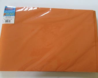 10 Sheets of Foam 12 x 18 - Orange- Ideal for foam crafts, fofuchas and more