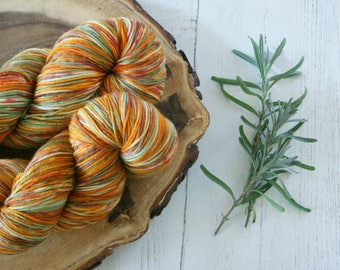 Merino Sock Yarn 100g - 4ply Autumn Fall - hand dyed