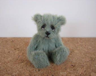 """cute Miniature Teddybear, bear, teddy, artist teddy,  """"Stephen"""" OOAK  Pippibear, 3,5 inches (9cm)"""