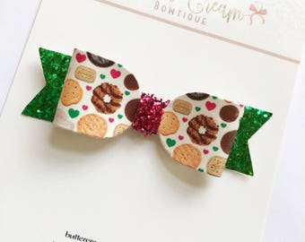 Girls scout cookie Bow, bows for girls, baby bows
