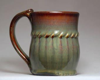 tea cup, 10oz pottery mug, original pottery mug
