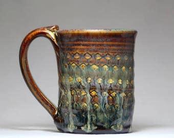 8oz ceramic mug, pottery mug, handmade coffee mug