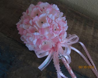 Pink fariy wand flower girl basket party wand