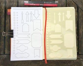 Bullet Journal Stencil. Planner Stencil, Bujo Stencil.