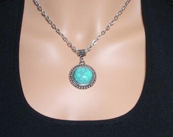 Victorian Turquoise Pendant