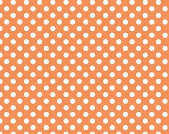 Orange Small Dot - End Of Bolt - 1/2 Yard Riley Blake Orange  Polka Dot