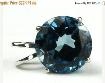 On Sale, 20% Off, London Blue Topaz, 925 Sterling Silver Pendant, SP088