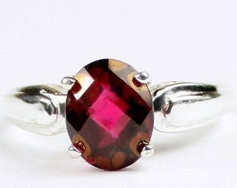 On Sale, 30% Off, Crimson fire Topaz, 925 Sterling Silver Ring, SR058