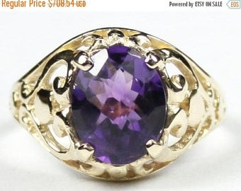 On Sale, 30% Off, Amethyst, 18Ky Gold Ring, R004