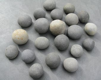"20 Pumpkin Stones 2""- 3"" Painting Stones, Large, Smooth, Beach Rocks, Wishing Stones, Wedding Decor,Unique"
