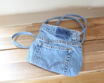 vintage levis denim blue jean purse