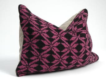 Ethnic Pillow Cushion Cover Decorative pillow Sofa Pillows Hand knitted woolen/linen pillow Cover Aztec Pillow Couch pillow 12x16''/30x40 cm