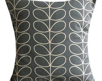 """Designer handmade grey stem floral retro scandinavian 16 - 24"""" cushion cover"""