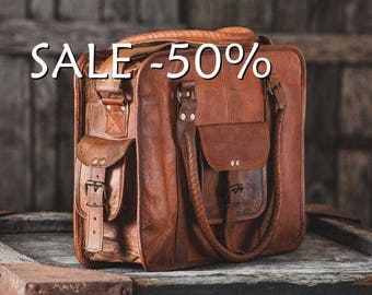 "SALE / Travel Bag 16"" / Carry Bag / Messenger Bag / Cabin Travel Bag / Cross Body Bag / Handbag / Satchel / Shoulder Bag / Briefcase"