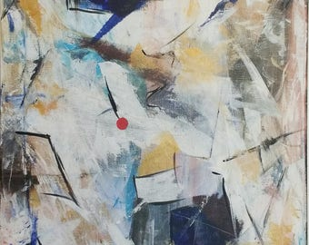 Abstract White Textured Painting