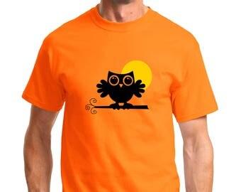 An Owl in the Moonlight T-shirt Men Short Sleeve