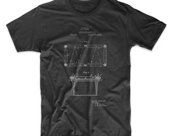 Pool Table Patent T shirt, Billiard Shirt, Pool T shirt, Bar Shirt, PP0149