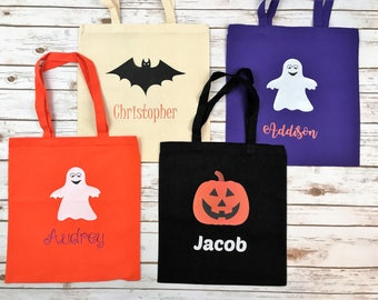 Trick or Treat bag, trick-or-treat Bag, Trick or treat bag personalized, candy bag, canvas bag, Halloween, Halloween tote, tote, bag, bucket