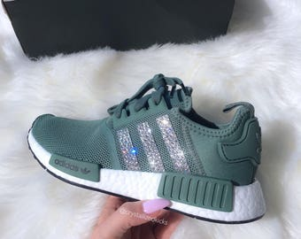 Adidas NMD Runner Made with SWAROVSKI® Xirius Rose Crystals - Trace Green / White