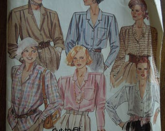 McCalls 3236, sizes 10-14, blouse, UNCUT sewing pattern, craft supplies