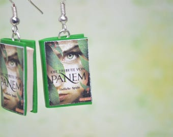 The Hunger Games Book Earrings, German Edition
