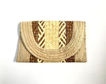 Straw Clutch. Vegan Handbag. Clutch. Wristlet Bag. Small Handbag. Wristlet Clutch. Small Purse. Purse. Summer Bag. Boho Bag. Festival