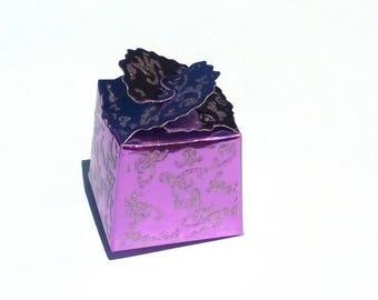 10 boxes bright pink purple gift box