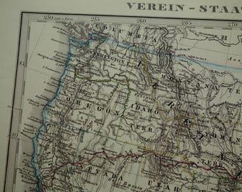 Large Us Map Etsy - Us map large