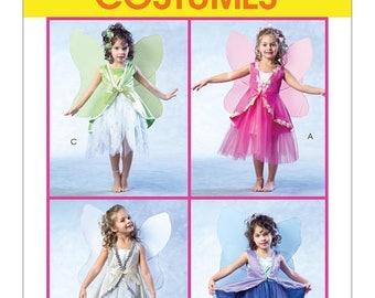 4887 McCalls Kids Fairy Dress, Fairy Princess, Pixie Flower Garden, Fairy,Dress, Vest, Wings, Sunday Dress, Dress Up, Grand Dress, Halloween