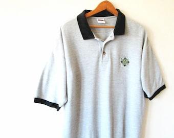 Vintage 1990s MILWAUKEE BREWERS Baseball Polo Shirt Sz L