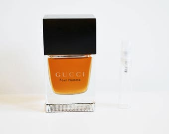 Vintage Gucci Pour Homme Eau De Toilette 5 ml Glass Sample *Not a full size bottle*