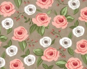 Farmer's Daughter - Painted Bouquet Taupe by Vanessa Goertzen of Lella Boutique for Moda, 1/2 yard, 5050 13