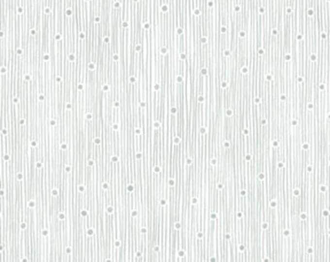 """10"""" REMNANT This 'N That - Dew Drops in Silver - Cotton Quilt Fabric - Designed by Nancy Halvorsen for Benartex (W1678)"""