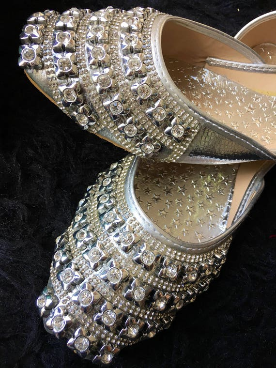 Like this item? - Silver Shoes Women Wedding Khussa Flat Shoes Women Shoes