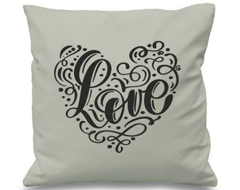 "Gorgeous Love Cushion/pillow Cover - 16""x16"" (41cmx41cm) Wedding Gift"